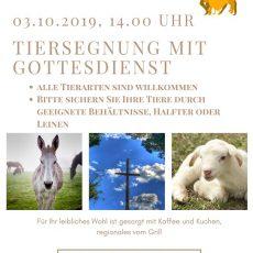 Tiersegnung mit Gottesdienst am 03.10.2019