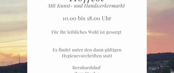 Hoffest mit Kunst- und Handwerkermarkt am 19.09.2021